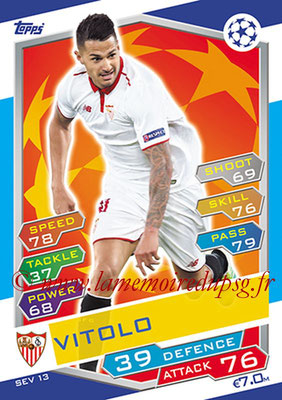 2016-17 - Topps UEFA Champions League Match Attax - N° SEV13 - VITOLO (FC Seville)