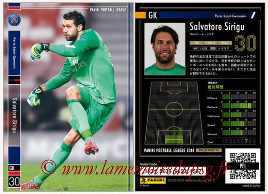 Panini Football League 2014 - PFL08 - N° 068 - Salvaore SIRIGU (Paris Saint-Germain)