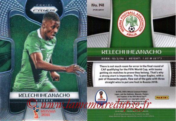 2018 - Panini Prizm FIFA World Cup Russia - N° 141 - Kelechi IHEANACHO (Nigeria)