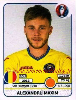 Panini Euro 2016 Stickers - N° 060 - Alexandru MAXIM (Roumanie)