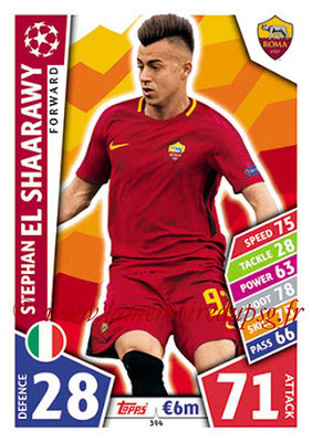 2017-18 - Topps UEFA Champions League Match Attax - N° 394 - Stephan EL SHAARAWY (AS Roma)
