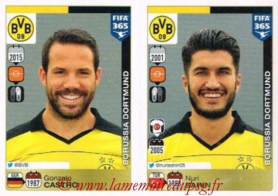 2015-16 - Panini FIFA 365 Stickers - N° 502-506 - Gonzalo CASTRO + Nuri SAHIN (Borussia Dortmund)