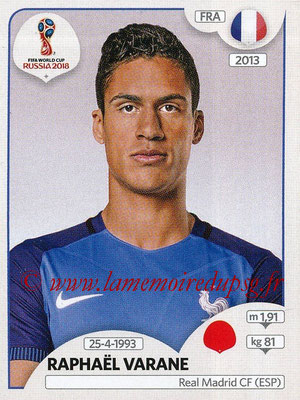 2018 - Panini FIFA World Cup Russia Stickers - N° 195 - Raphaël VARANE (France)