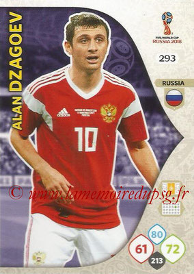 2018 - Panini FIFA World Cup Russia Adrenalyn XL - N° 293 - Alan DZAGOEV (Russie)