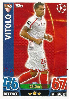 2015-16 - Topps UEFA Champions League Match Attax - N° 283 - VITOLO (FC Seville)