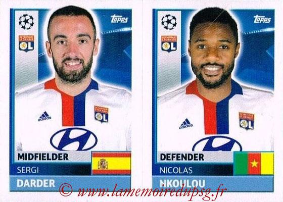 2016-17 - Topps UEFA Champions League Stickers - N° LYO 10-11 - Nicolas NKOULOU + Sergi DARDER (Olympique Lyonnais)