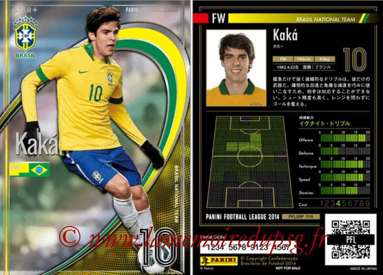 Panini Football League 2014 - PFL08P - N° 016 - KAKA (Brésil) (Star +)