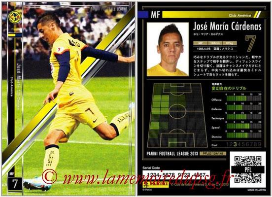 Panini Football League 2013 - PFL02 - N° 124 - Jose Maria Cardenas ( Club America )