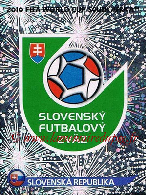 2010 - Panini FIFA World Cup South Africa Stickers - N° 468 - Logo Slovaquie