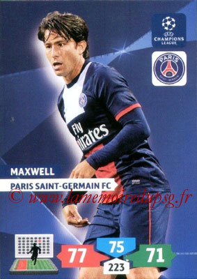 2013-14 - Adrenalyn XL champions League N° 228 - MAXWELL (Paris Saint-Germain)