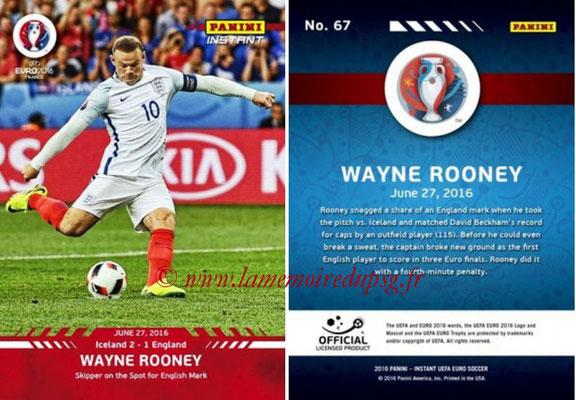 Panini Instant Euro 2016 - N° 067 - Wayne ROONEY