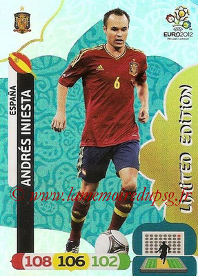 Panini Euro 2012 Cards Adrenalyn XL - N° LE21 - Andrés INIESTA (Espagne) (Limited Edition)