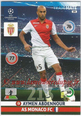 2014-15 - Adrenalyn XL champions League N° 184 - Aymen ABDENNOUR (AS Monaco)