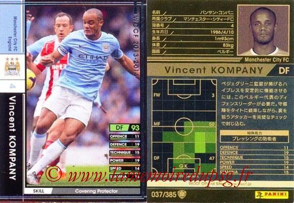2013-14 - WCCF - N° 037 - Vincent KOMPANY (Manchester City FC)