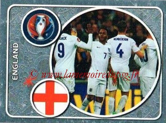 Panini Euro 2016 Stickers - N° 121 - Équipe d'Angleterre