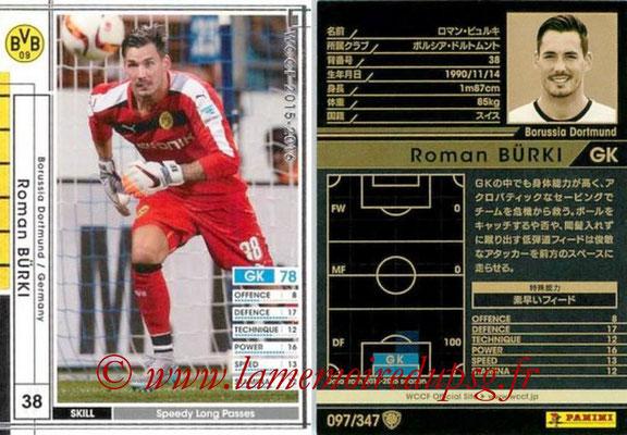 2015-16 - Panini WCCF - N° 097 - Roman BÜRKI (Borussia Dortmund)