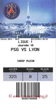 Tickets  PSG-Lyon  2013-14