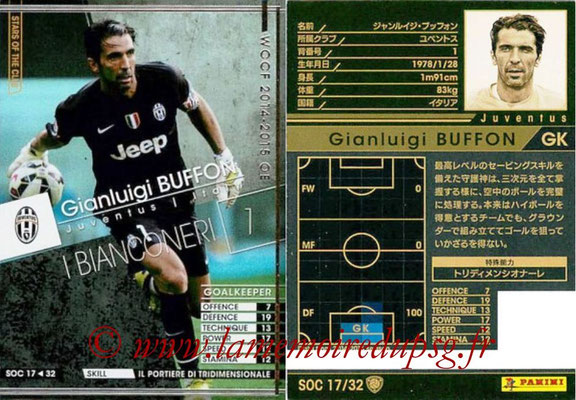2014-15 - WCCF - N° SOC17 - Gianluigi BUFFON (Juventus FC) (Stars Of the Club)