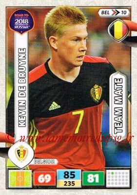 2018 - Panini Road to FIFA World Cup Russia Adrenalyn XL - N° BEL10 - Kevin DE BRUYNE (Belgique)