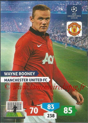 2013-14 - Adrenalyn XL champions League N° 180 - Wayne ROONEY (Manchester United FC)