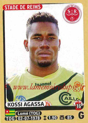 2015-16 - Panini Ligue 1 Stickers - N° 362 - Kossi AGASSA (Stade de Reims)