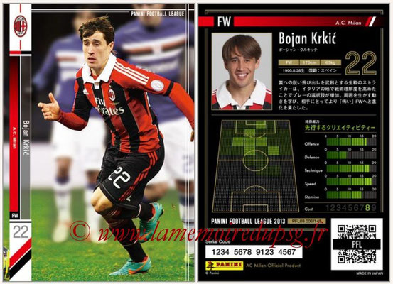Panini Football League 2013 - PFL03 - N° 006 - Bojan Krkic (Milan AC)