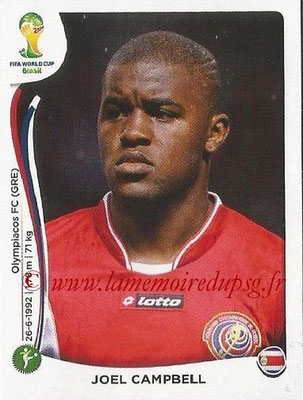 2014 - Panini FIFA World Cup Brazil Stickers - N° 296 - Joel CAMPBELL (Costa Rica)