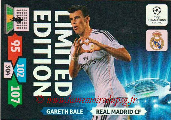 2013-14 - Adrenalyn XL champions League N° LE44 - Gareth BALE (Real Madrid CF) (Limited Edition)
