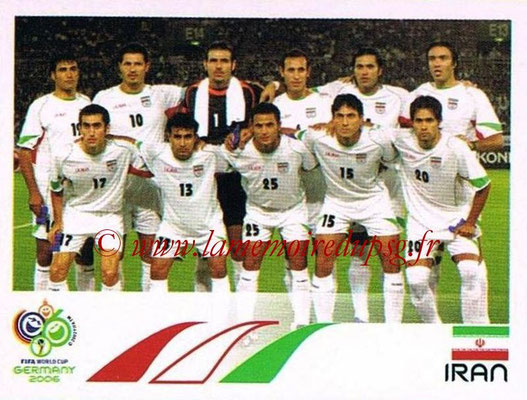 2006 - Panini FIFA World Cup Germany Stickers - N° 263 - Équipe Iran