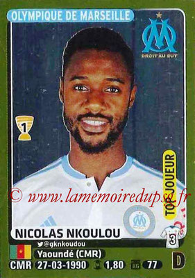 2015-16 - Panini Ligue 1 Stickers - N° 223 - Nicolas NKOULOU (Olympique de Marseille) (Top joueur)