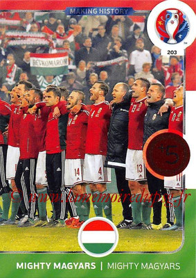 Panini Euro 2016 Cards - N° 203 - Making History de Hongrie