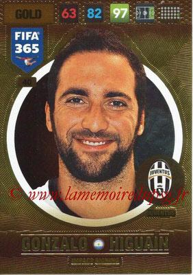 2016-17 - Panini Adrenalyn XL FIFA 365 - N° 040 - Gonzalo HIGUAIN (Juventus FC) (Impact Signing)
