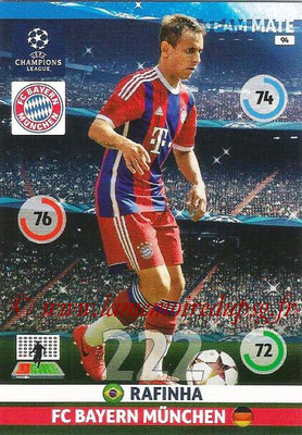 2014-15 - Adrenalyn XL champions League N° 094 - RAFINHA (Bayern Munich)