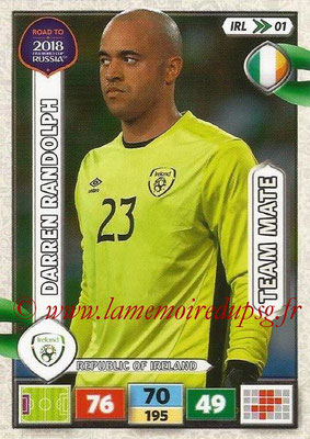 2018 - Panini Road to FIFA World Cup Russia Adrenalyn XL - N° IRL01 - Darren RANDOLPH (République d'Irlande) (UK Version)