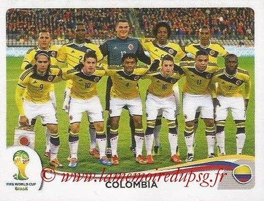 2014 - Panini FIFA World Cup Brazil Stickers - N° 185 - Equipe Colombie
