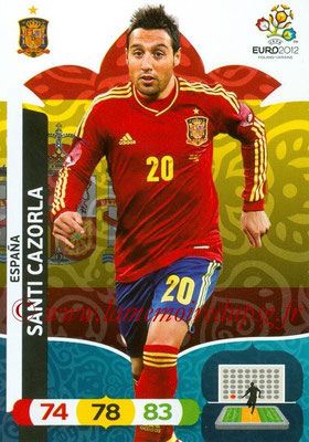 Panini Euro 2012 Cards Adrenalyn XL - N° 068 - Santi  CAZORLA (Espagne)
