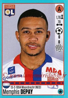 2016-17 - Panini Ligue 1 Stickers - N° T21 - Memphis DEPAY (Lyon) (Set Transfert)