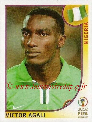 2002 - Panini FIFA World Cup Stickers - N° 419 - Victor AGALI (Nigéria)