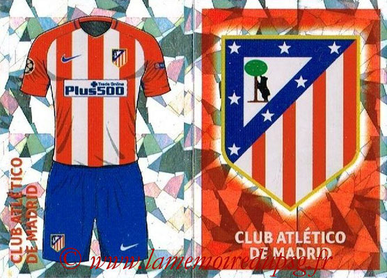 2016-17 - Topps UEFA Champions League Stickers - N° ATL 1-2 - Logo + Maillot Domicile (Club Atletico de Madrid)