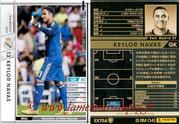 2014-15 - WCCF - N° EXT12 - Keylor NAVAS (Real Madrid CF) (Extra)