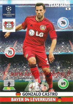 2014-15 - Adrenalyn XL champions League N° 086 - Gonzalo CASTRO (Bayer Leverkusen)
