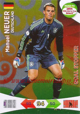 2014 - Panini Road to FIFA World Cup Brazil Adrenalyn XL - N° 210 - Manuel NEUER (Allemagne) (Goal Stopper)