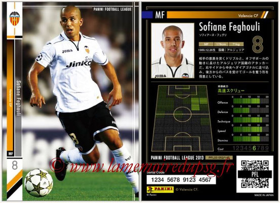 Panini Football League 2013 - PFL03 - N° 052 - Sofiane Feghouli (FC Valence)
