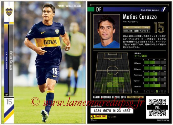 Panini Football League 2013 - PFL04 - N° 083 - Matias CARUZZO (Boca Juniors)