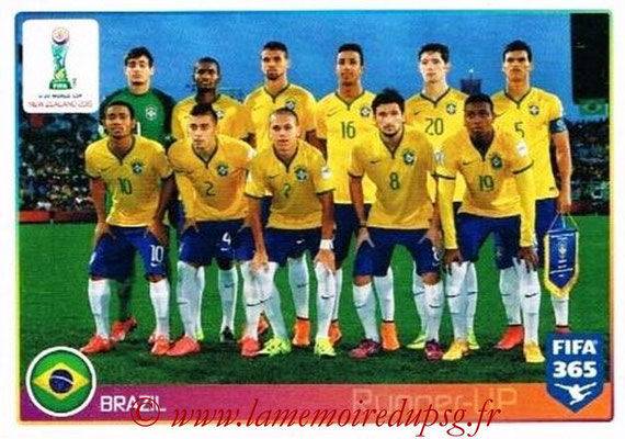2015-16 - Panini FIFA 365 Stickers - N° 049 - Brésil (FIFA U20 World Cup)