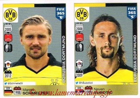 2015-16 - Panini FIFA 365 Stickers - N° 498-499 - Marcel SCHMELZER + Neven SUBOTIC (Borussia Dortmund)