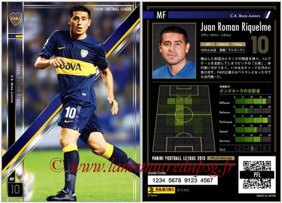 Panini Football League 2013 - PFL04 - N° 084 - Juan Roman RIQUELME (Boca Juniors)