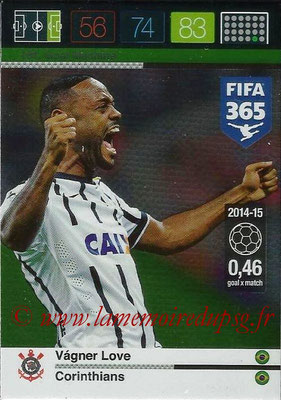 2015-16 - Panini Adrenalyn XL FIFA 365 - N° 181 - Vagner LOVE (Corinthians) (Goal Machine)