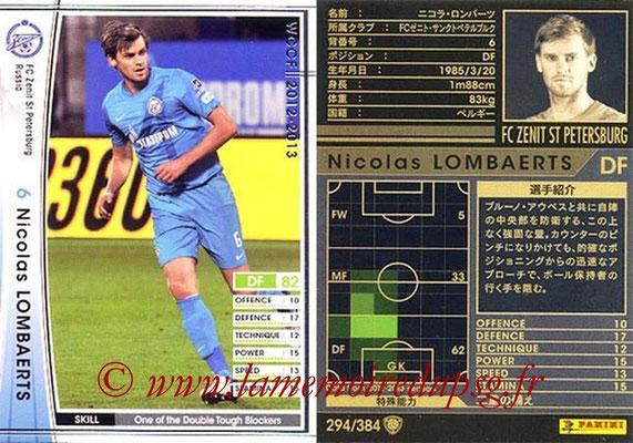 2012-13 - WCCF - N° 294 - Nicolas LOMBAERTS (FC  Zenit)