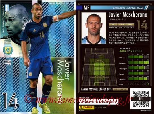 Panini Football League 2015 - PFL13 - N° 108 - Javier MASCHERANO (Argentine) (Bandiera)